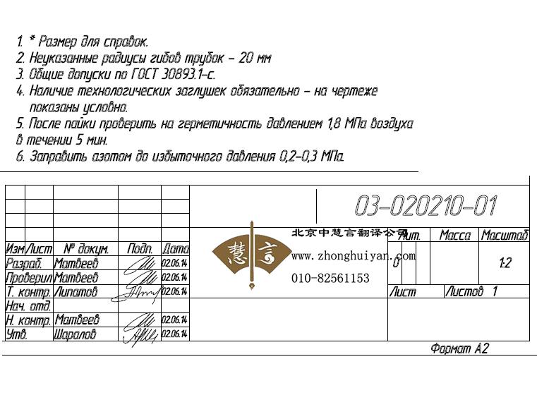 俄语图纸翻译价格多少钱?