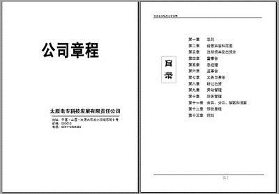 公司章程翻译