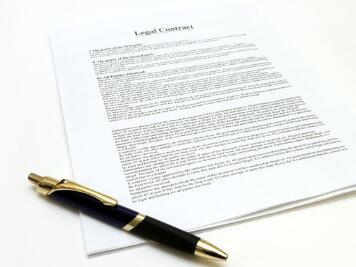 合同这类文件属于有法律效益的东西